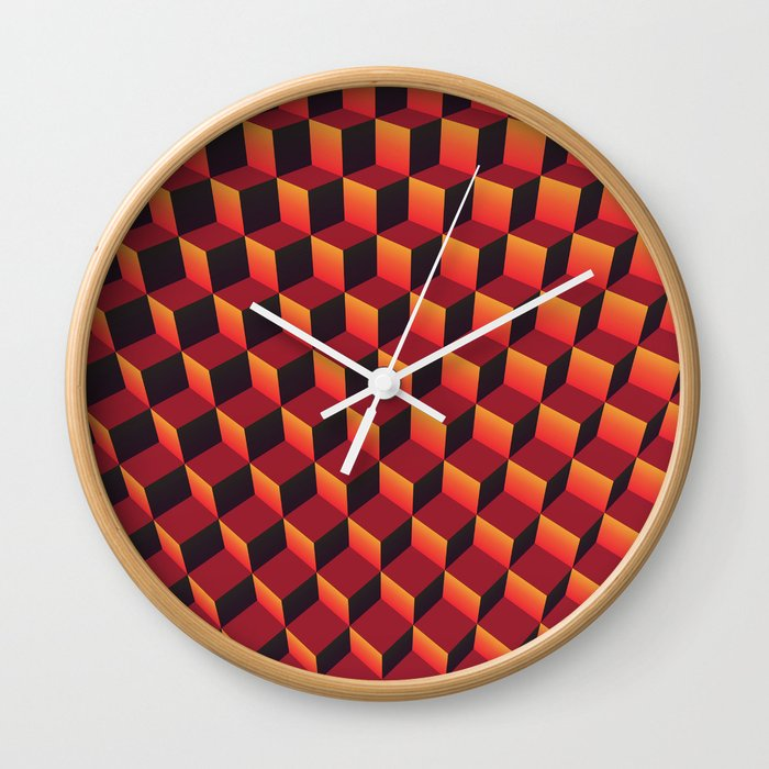 Minecraft Lava Wall Clock By Lyle58 Society6