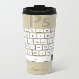 Photoshop Keyboard Shortcuts Brwn Cmd Metal Travel Mug