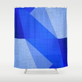 Lapis Lazuli Shapes - Cobalt Blue Abstract Shower Curtain
