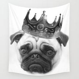 Notorious PUG Crown Wall Tapestry