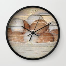 Rustic Fresh Eggs Kitchen Cafe Bistro Country Farmhouse Art A295 Wall Clock