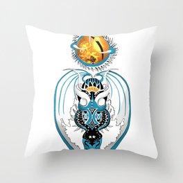 Cosmic Skyfall Dragon Throw Pillow