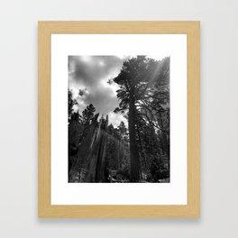 Mountain Sunbeams Framed Art Print