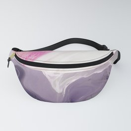 Two toned Rose & black night marble Fanny Pack