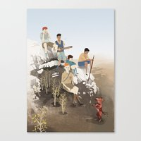 boys Canvas Prints featuring Boys by Andrew Sutherland