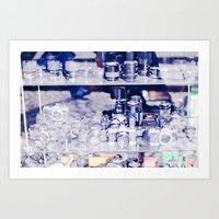 cameras Art Prints featuring Cameras by Sushibird