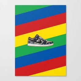 Travi$ Scott Dunk SB Low - Rainbow Canvas Print