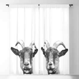 Black and White Goat Blackout Curtain