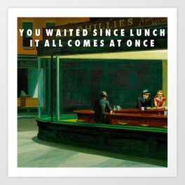 White Nighthawks Art Print