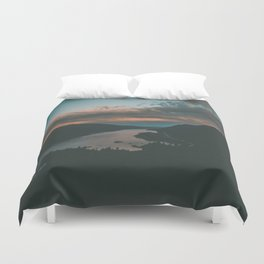 Columbia River Gorge Sunset Duvet Cover
