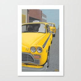 Taxi Stand version 2 Canvas Print