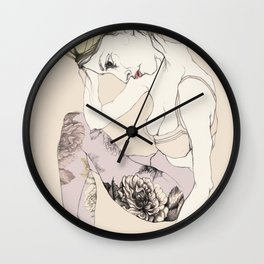 With stockings of flowers Wall Clock
