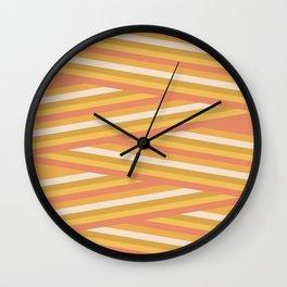 stripey sunny square Wall Clock
