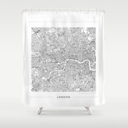 London Map 2 Shower Curtain