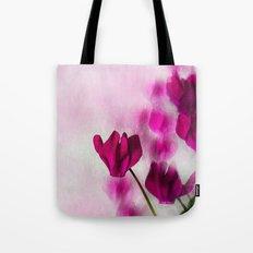 Pink Cyclamen Impressions Tote Bag