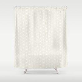 Flower of Life Print - White/Cream Shower Curtain