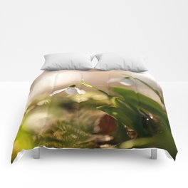 You And I Two Snowdrop Flowers #decor #society6 Comforters