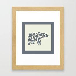Canadian Polar Bear Framed Art Print