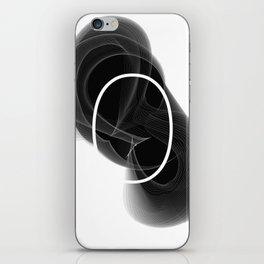 Typographic treatment of number zero. Dark Math 0. iPhone Skin