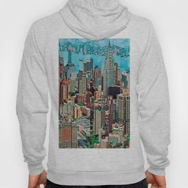 Stressless - New York City Skyline - Empire State Building Photograph on Canvas by Serge Mendjisky Hoody