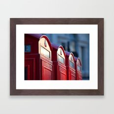 Boxes Framed Art Print