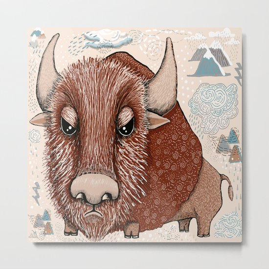 American Buffalo Bison Southwest Southwestern Metal Print