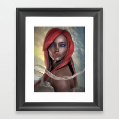 Beautiful Disaster, all because of you  Framed Art Print
