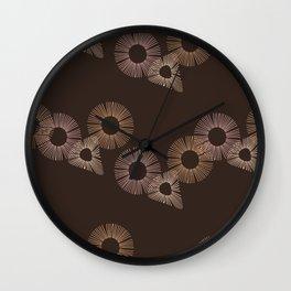 Brown Circle of Life Wall Clock