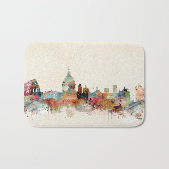 rome italy skyline Bath Mat