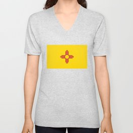 Flag of New Mexico - Authentic High Quality Image Unisex V-Neck