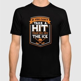 Vintage Get Off The Ice Hockey Graphic T Shirt T-shirt