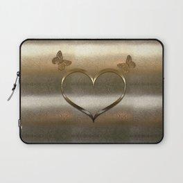 Giant Gold Heart Laptop Sleeve