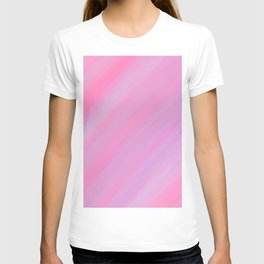 Abstract pink lilac trendy watercolor brushstrokes T-shirt