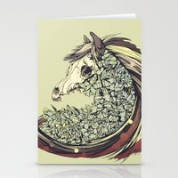 horse Stationery Cards featuring Beautiful Horse Old by dvdesign
