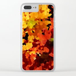 Yellow and Red Sunflowers Clear iPhone Case