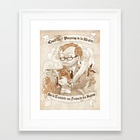 bouletcorp Framed Art Prints featuring Autoportrait by Bouletcorp