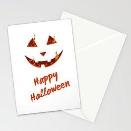 happy halloween bonfire Pumpkin gift hallowe Stationery Cards