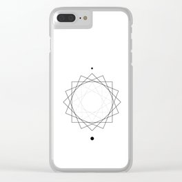 Sun Geometry White Clear iPhone Case