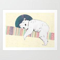 My bear is dreaming Art Print