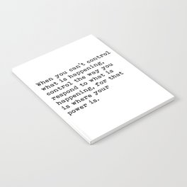 Control The Way Your Respond, Inspirational, Motivational, Quote Notebook