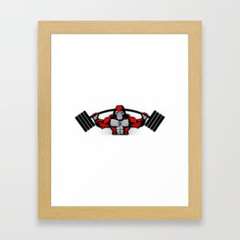 Strong monkey athlete Framed Art Print