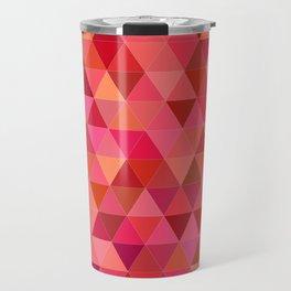 Red triangle tiles Travel Mug