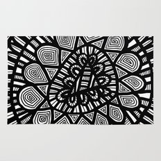 Black and White Doodle 7 Rug
