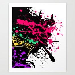 Funky splatter Art Print