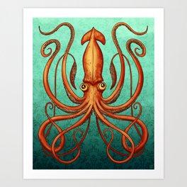 Giant Squid 2 Art Print