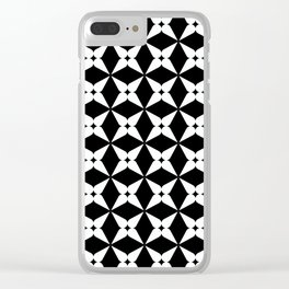 Geometric Pattern 247 (white crosses) Clear iPhone Case
