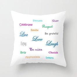 A Beautiful Life Throw Pillow