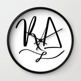 Cursive KD Wall Clock