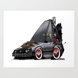 Back To The Future Part 3 - DeLorean Time Machine Art Print