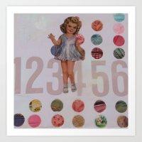 lilac 123456 Art Print